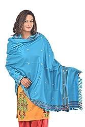 Weavers Villa - Womens Kashmiri Gorgeous Blue Shawls ,Stoles