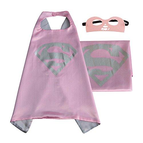 [Superhero Costume Kids (1 Cape +1 mask) (Supergirl)] (Cheap Maternity Halloween Costumes)