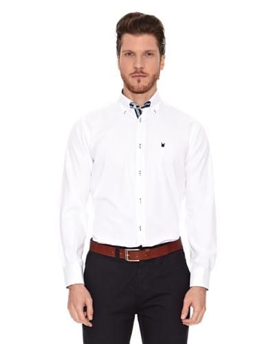 Polo Club Camisa Manga Larga Semientallada Jefferson Blanco