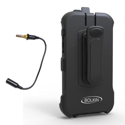 Bolkin Holster & Headphone Adapter For Bolkin Hybrid Armor Waterproof Case Iphone 5 / 5S / 5C