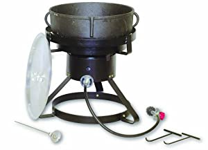 King Kooker 1720 17-1/2-Inch Outdoor Cooker with 5 Gallon Cast Iron Jambalaya Pot Package from King Kooker
