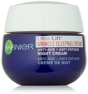 Garnier Skin Ultra-Lift Miracle Sleeping Cream Anti-Age Plus Anti-Fatigue Night Cream, 1.7 Ounce