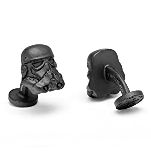 Officially licensed by Lucasfilm Star Wars Matte Black 3-D Storm Trooper Helmet Cufflinks Cuff Links