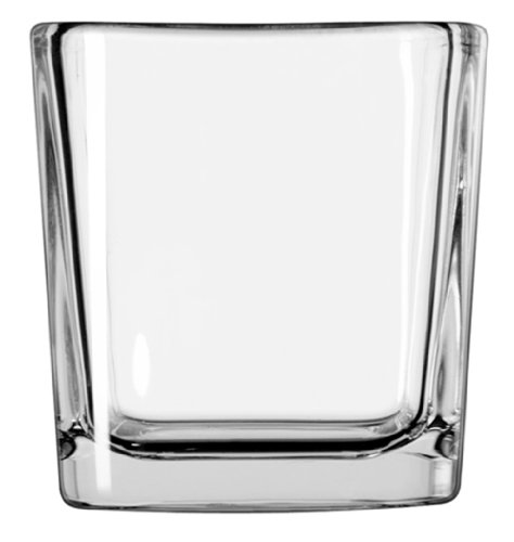 Libbey Glass Square Votive Candle Holder, 3-Inch, Clear, Set of 12