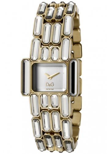 D & G Ladies Aristocratic Quartz Watch DW0473 With Silver Rectangular Analogue Dial And Bracelet