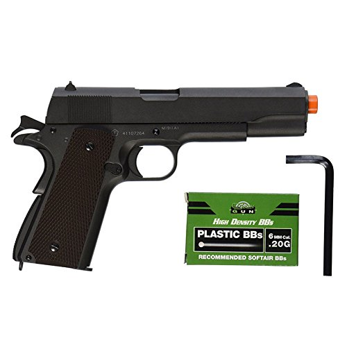 Colt 100th Anniversary 1911 Co2 Full Metal Airsoft Pistol, 6mm (Gas Airsoft Guns compare prices)