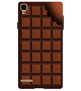 Chiraiyaa Designer Printed Premium Back Cover Case for OPPO F1 (Chocolate brown) (Multicolor)