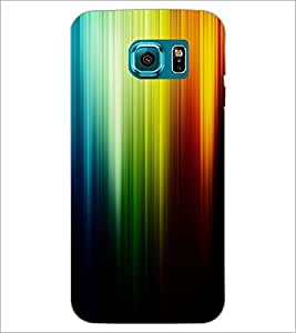 PrintDhaba Rainbow Colours D-2276 Back Case Cover for SAMSUNG GALAXY S6 EDGE (Multi-Coloured)