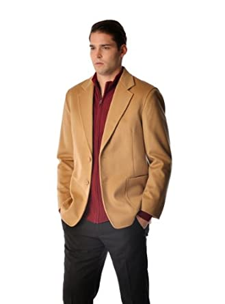 Cashmere Sport Coat for Men (Black, 38)