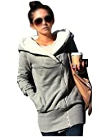 DJT Double fermeture à glissière de concepteur hoodies sweat haut chandail à capuche manteau Femme