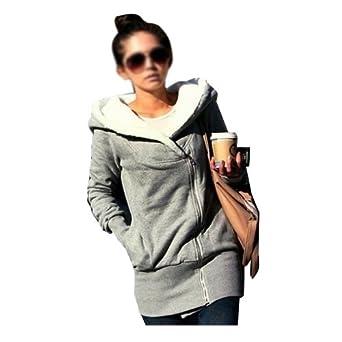 DJT Les dames de nouvelles zip femmes de concepteur hoodies sweat haut chandail à capuche manteau de veste Coton Gris XXL