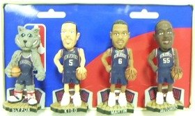 New Jersey Nets Road Jersey Forever Collectibles Mini Bobble Head Set by Hall of Fame Memorabilia