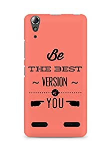 Amez Be the Best version of Yourself Back Cover For Lenovo A6000