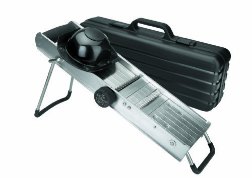 LACOR 60357 ST. STEEL MANDOLINE SLICER W/PROTECTOR by Lacor (Lacor Slicer compare prices)
