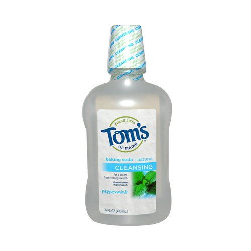 Tom's of Maine Cleansing Baking Soda Mouthwash Peppermint - 16 fl oz