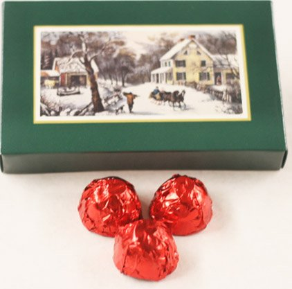 Scott's Cakes Dark Chocolate Covered Cherry Brandy Cherries in a 1 Pound Homestead Box
