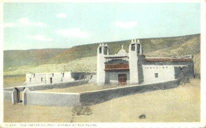 Pueblo of San Felipe, New Mexico Postcard