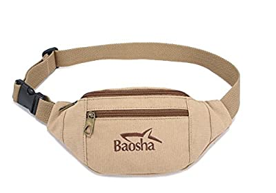 ZeleToile YB-13 sac banane de voyage ceinture portefeuille en toile sacoche banane ceinture de loisir pour femme et homme