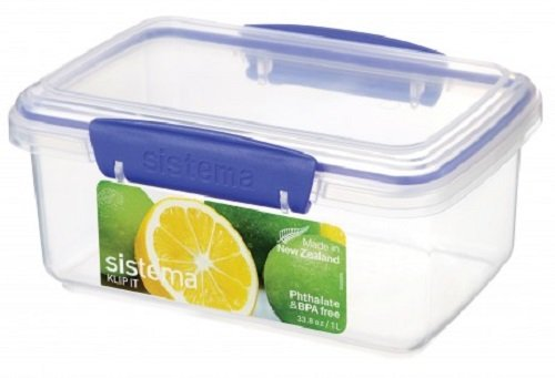 sistema-klip-it-food-storage-container-1-l-clear-with-blue-clips
