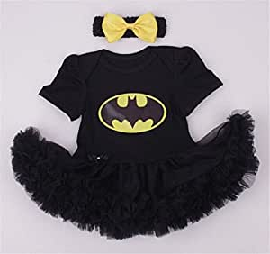 Infant Baby Cool Batman Costume Newborn Girls Party Dress Cosplay
