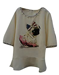 Women's Dog Beaded Dress