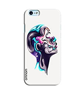 Omnam Man Face Made Of Paint Effect Printed Designer Back Cover Case For Apple iPhone 6