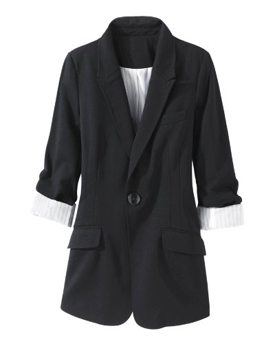 Ponte-Knit Boyfriend Blazer by Newport News