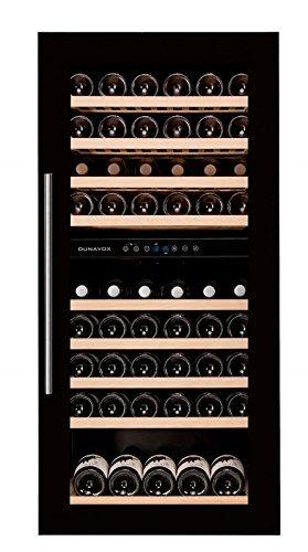DUNAVOX-cave-a-vins-encastrable-meuble-colonne-noire-double-temperature-89-bouteilles