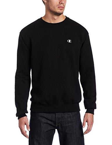 Champion Men's Pullover Eco Fleece Sweatshirt, Black, Large