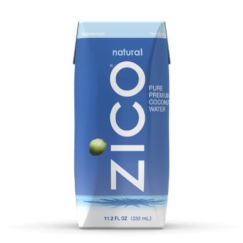 ZICO Pure Premium Coconut Water, Natural, 11.2oz Tetra Paks