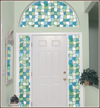 Atlantis Privacy Stained Glass Decorative Window Film 32