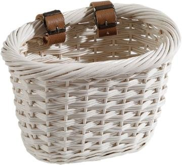 Nantucket Bike Baskets Cliff Road Oval Basket White.
