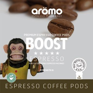 Aromo 'Boost' ESE Coffee Pods 100 of Premium Blend espresso