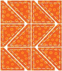 Accuquilt Go! Fabric Cutting Dies Half Square 2' Finished Triangle front-481071
