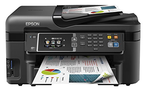 Epson WorkForce WF-3620DWF Stampante Multifunzione a Getto d'Inchiostro, Nero