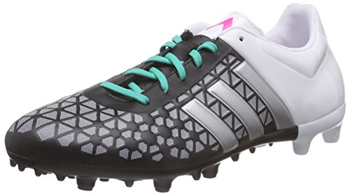 adidasAce 15.3 Fg/Ag - Scarpe da Calcio Uomo , Nero (Schwarz (Core Black/Matte Silver/Ftwr White)), 44 eu