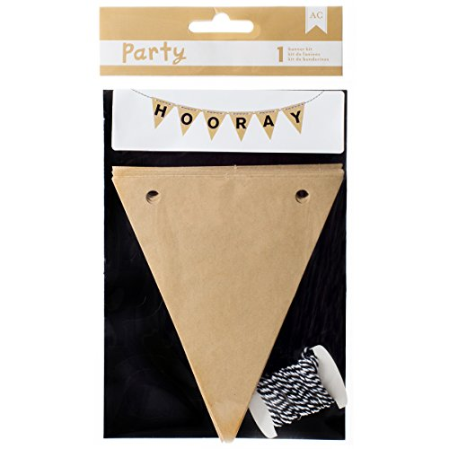 American Crafts DIY Party Banner Pack black