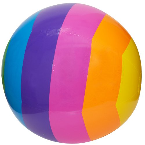 "GIANT RAINBOW BEACH BALL - HUGE 32"" DIAMETER"