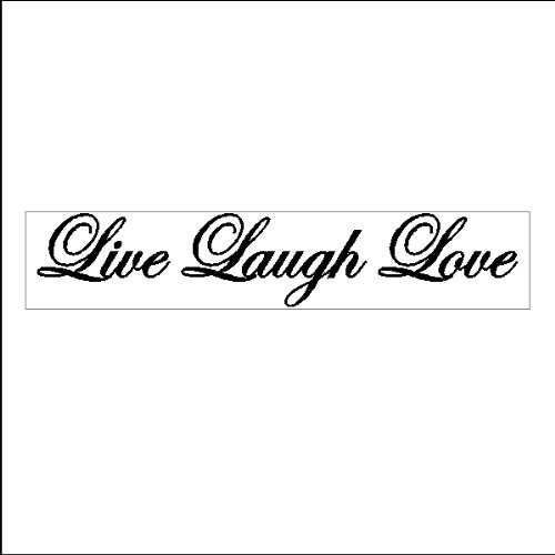 Live Laugh LovePeel and Stick Family Wall Quotes Words Sayings Removable Wall Lettering Stickers ( 5 x 24)