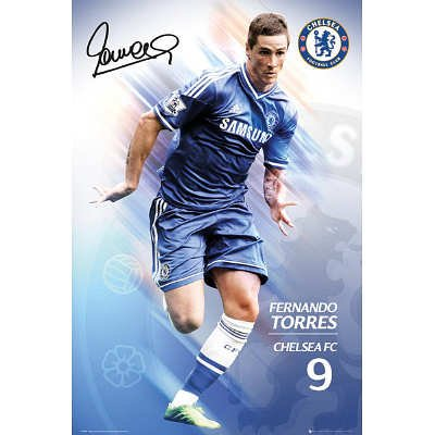 (24x36) Fernando Torres Chelsea FC Sports Poster