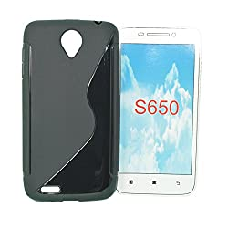 TOTTA S-Line Silicone Back Case for Lenovo S650-BLACK
