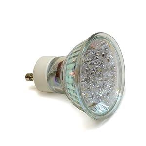 buy led gu10 mr16 flood light bulb 21 led 2 watts 30k warm white led light bulb replaces halogen. Black Bedroom Furniture Sets. Home Design Ideas