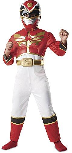 Rubie's - Costume da Power Ranger Megaforce, Rosso, Bambino, 5-6 anni