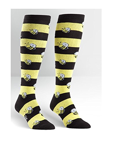 Bumble Bee Knee High Womens Socks by Sock It To Me