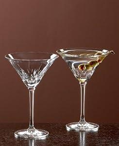 Wedgwood vera wang crystal stemware and barware duchesse martini set 2 martini - Vera wang stemware ...