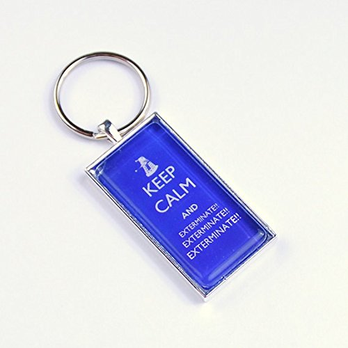 Doctor Who Key Ring Keep Calm Exterminate Dalek Keyring, Police Box Keychain
