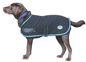 Weatherbeeta Fleece Dog Coat - Size:12 Color:Black/Blue
