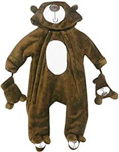 Baby Bear Microplush Snowsuit for Newborns 0-3 Months