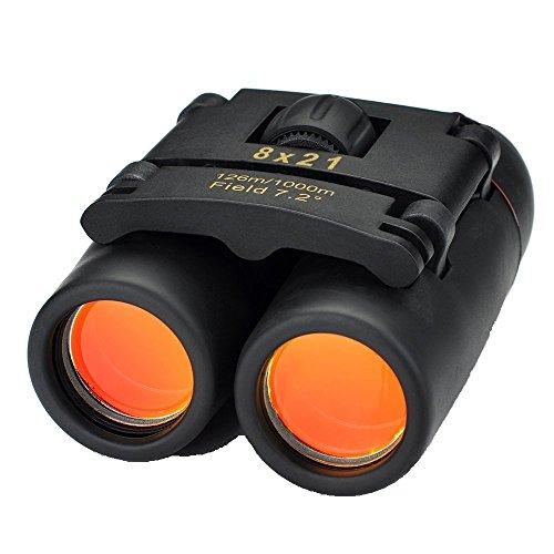 Patech 双眼鏡 軽量望遠鏡 昼夜兼用 8倍率 口径21mm 収納ケース...