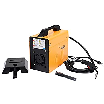 Goplus® MIG 130 Welder Flux Core Wire Automatic Feed Welding Machine w/ Free Mask